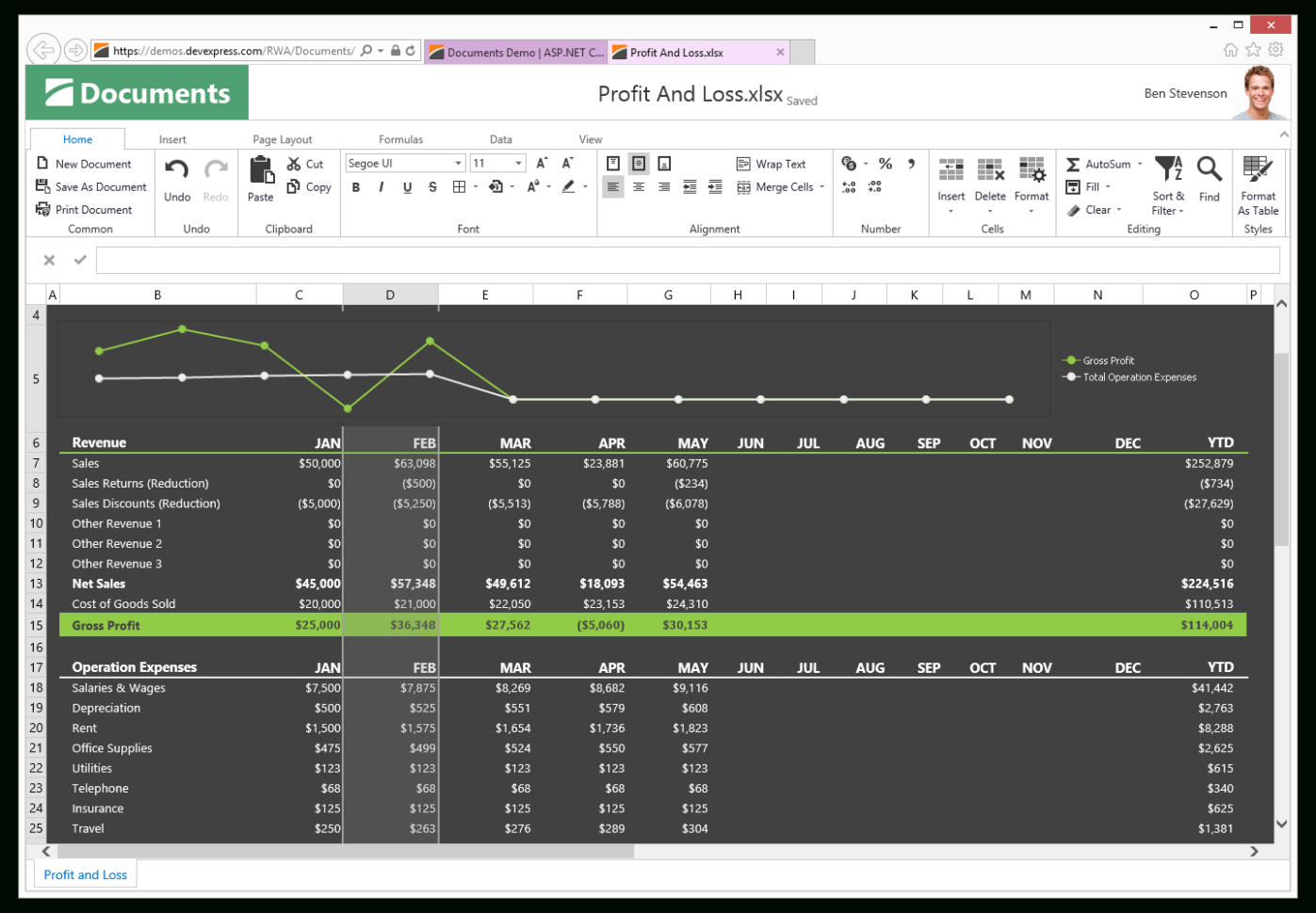 Asp Spreadsheet   Excel Inspired Spreadsheet Control | Devexpress For Spreadsheet Net