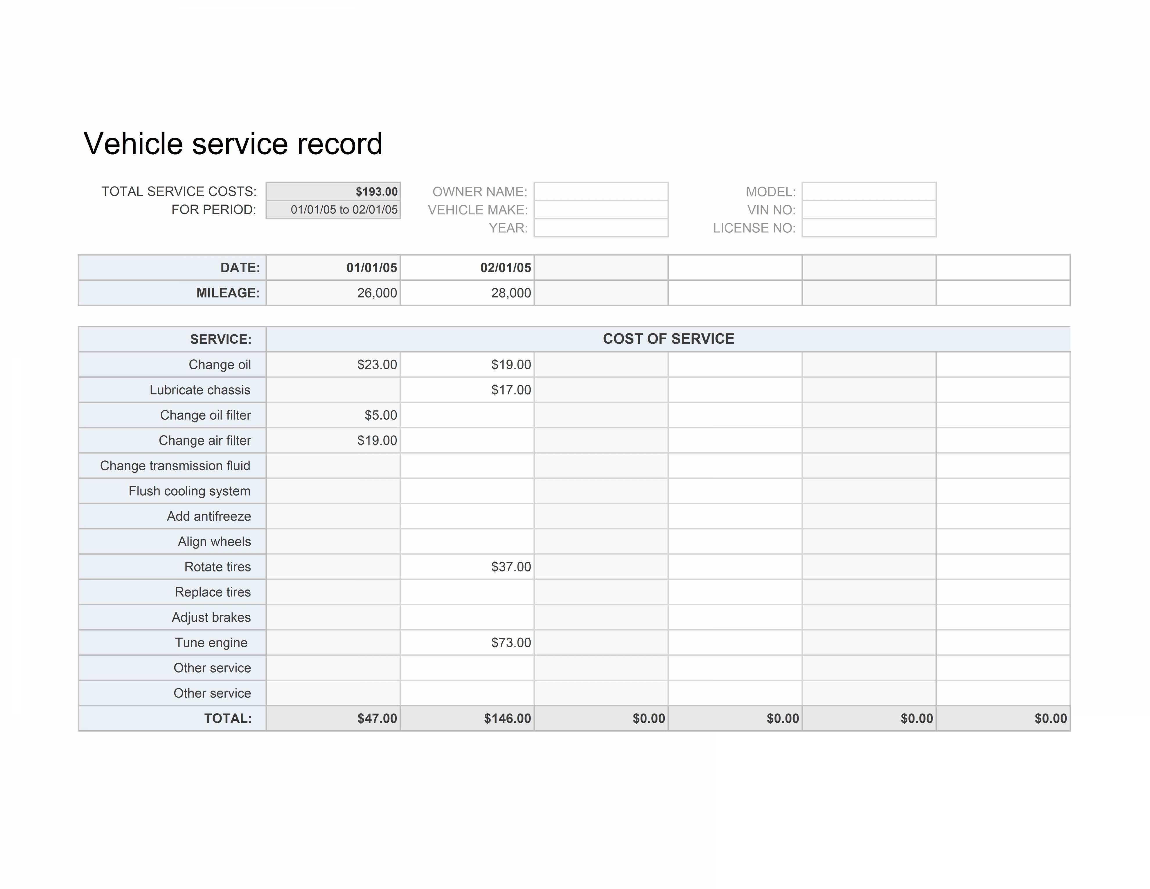Auto Maintenance Spreadsheet Car Maintenance Record Yeniscale Throughout Auto Maintenance Spreadsheet