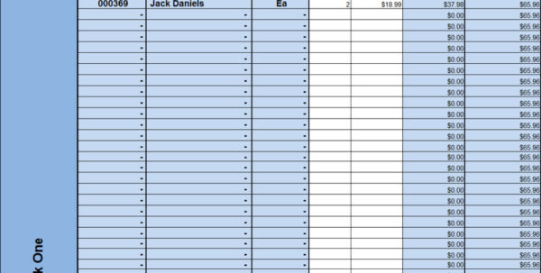 Bar Liquor Inventory Spreadsheet | Homebiz4U2Profit With Bar Inventory Form