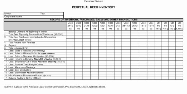 Beer Inventory Spreadsheet Unique Beer Inventory Spreadsheet Free In Beer Inventory Spreadsheet