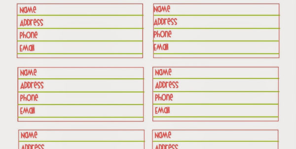 Best Images Of Printable Contact List Template Free – Freetmplts To Email Contact List Template