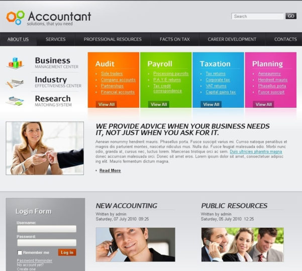 Best Joomla Templates For Accountants & Auditors | Free & Premium Intended For Accounting Website Templates Free Download