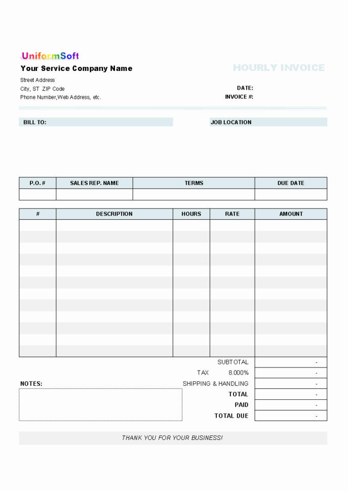 Best Of 25 Illustration Hourly Invoice Generator Intended For Hourly Invoice Template