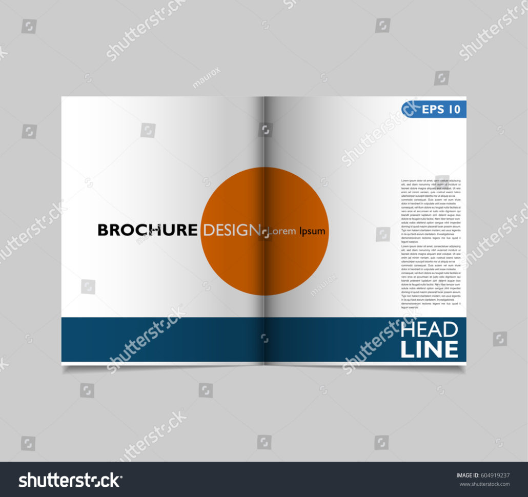 Bifold Brochure Template Design Flyer Layout Stock Vector 604919237 With Business Applications Template