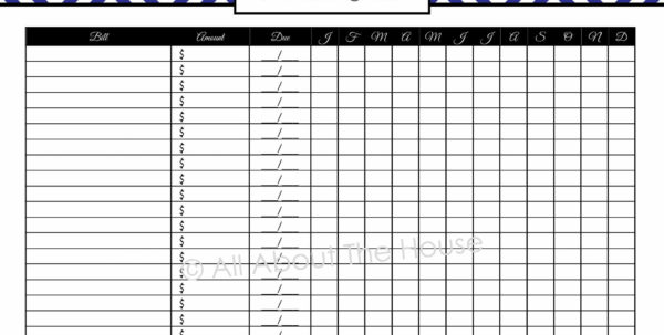 Bill Tracker Spreadsheet | Worksheet & Spreadsheet 2018 In Spreadsheet For Bills