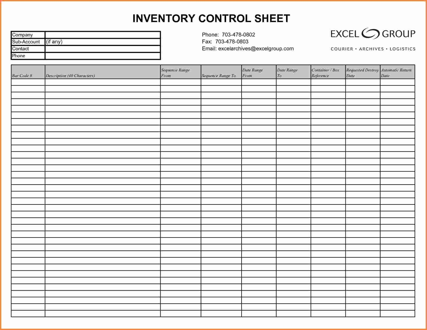 Blank Inventory Sheets Printable Unique Inventory List Template Pdf To Printable Inventory List Template