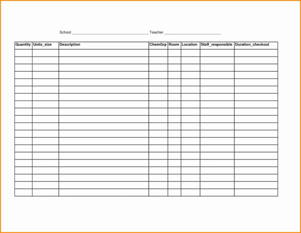 Blank Inventory Spreadsheet Awesome Blank Spreadsheet Printable Throughout Printable Inventory Spreadsheet