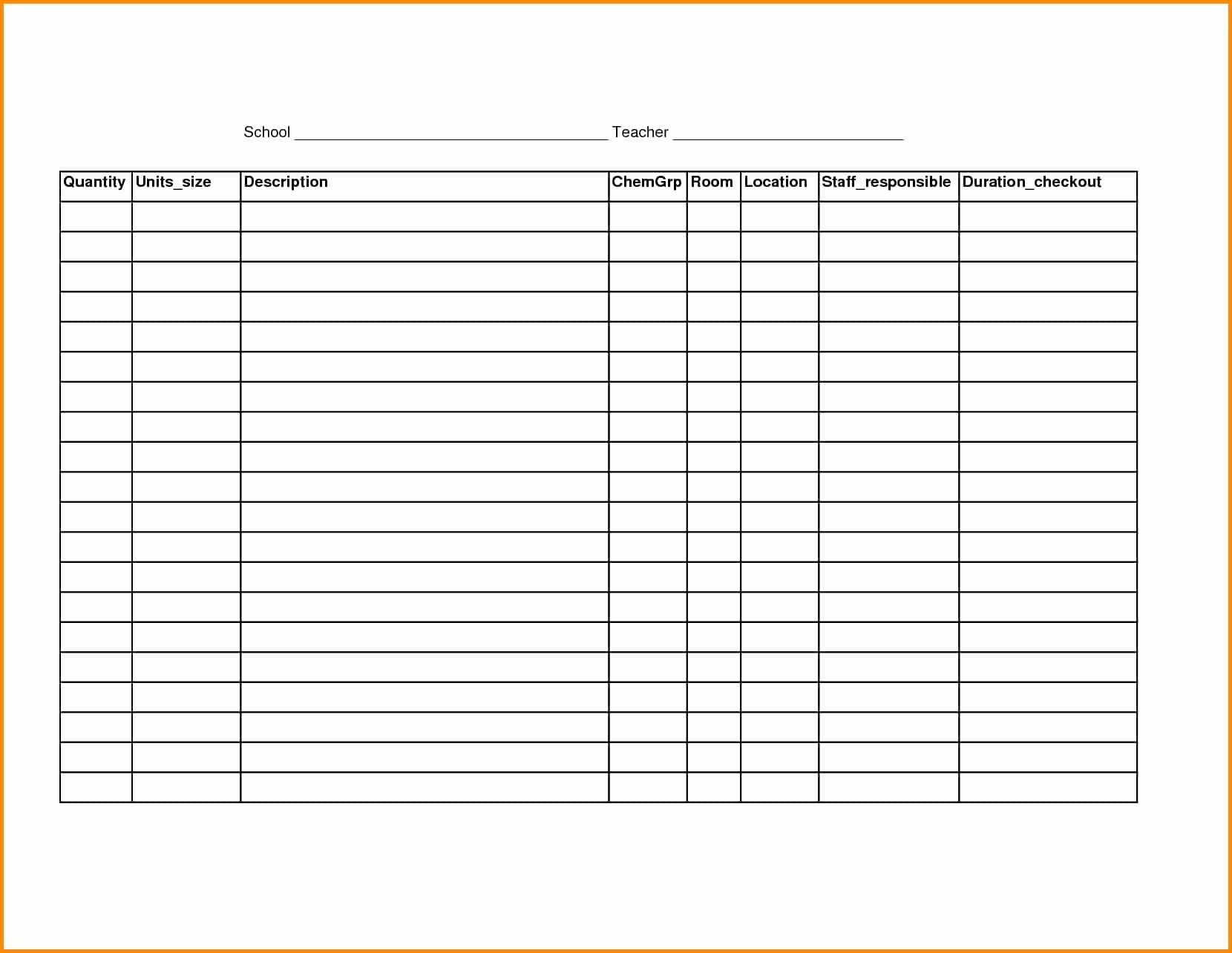 Blank Inventory Spreadsheet Unique Blank Inventory Sheets Printable In Printable Blank Inventory Spreadsheet