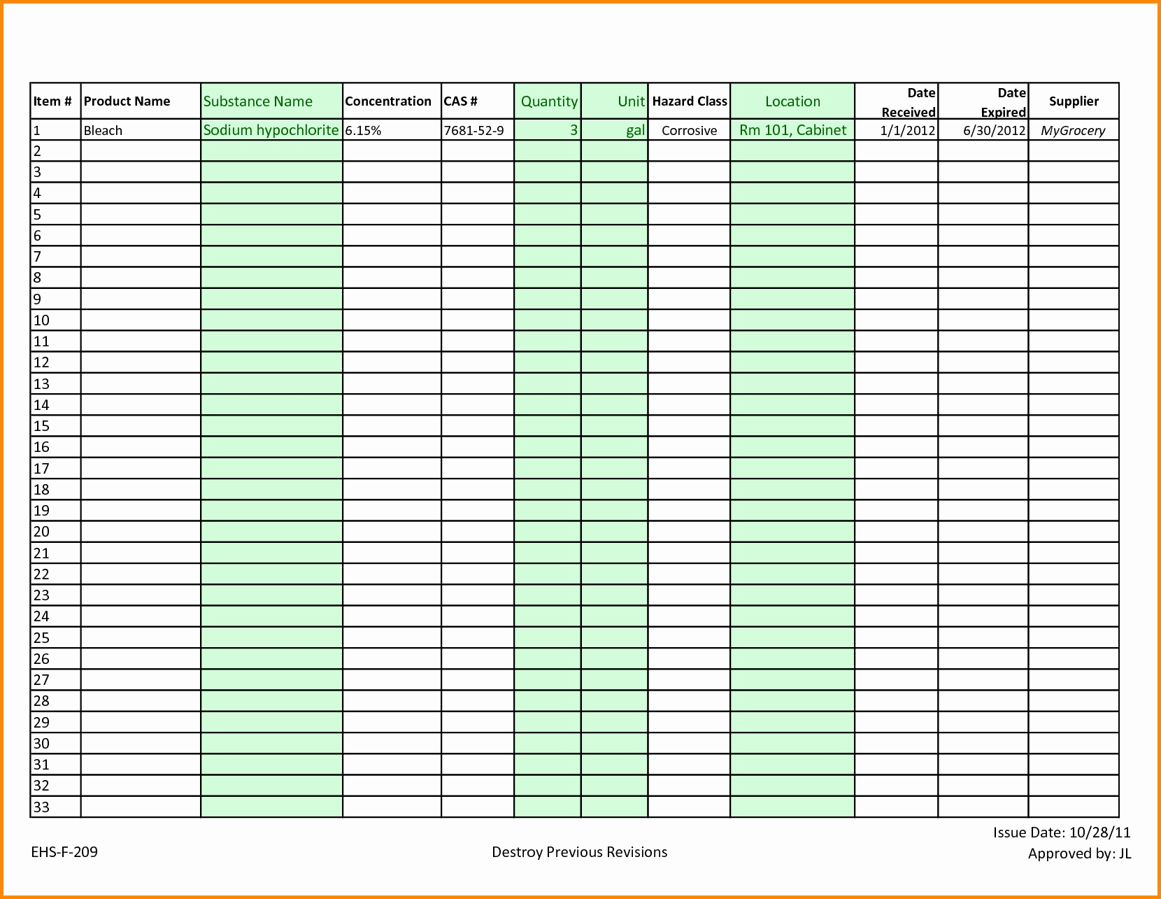 Blank Inventory Spreadsheet Unique Blank Spreadsheet Form Throughout Supply Inventory Spreadsheet