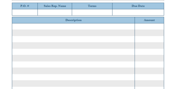 Blank Invoice Templates   20 Results Found For Billing Spreadsheet Template
