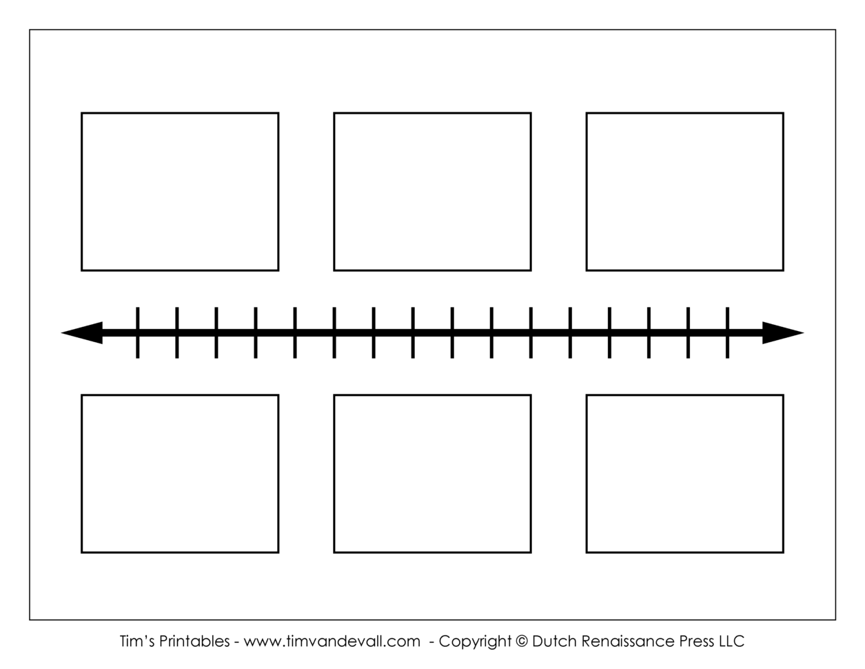 Blank Timeline Template   Tim's Printables To School Project Timeline Templates