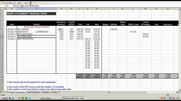 Bookkeeping Excel Spreadsheets Free Download | Homebiz4U2Profit For Accounting Excel Sheet Free Download