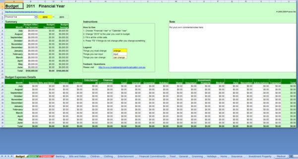 Budget Calculator Free Spreadsheet As Online Spreadsheet Monthly For Budget Spreadsheets Free