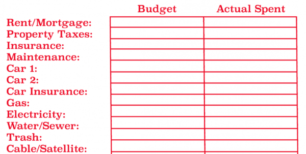 Budget Plan Spreadsheet Free Monthly Budget Templatebudget Worksheet And Budget Plan Spreadsheet