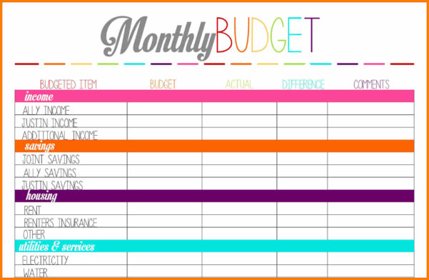 Budget Planner Worksheet Weekly Templa On Free Monthly Budget And Budget Planner Spreadsheet
