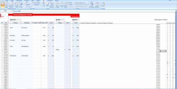 Budget Tracker Excel Amazing Design Inspirational Excel Spreadsheet inside How To Track Expenses In Excel