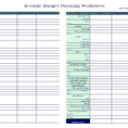 Budget Worksheet Free Excel New Spreadsheetxamples Small Business Throughout Financial Budget Spreadsheet