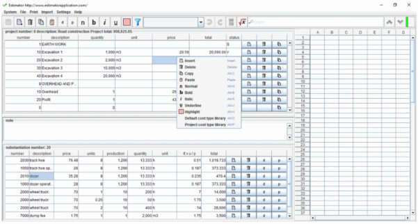 Building Construction Estimate Spreadsheet Excel Download On Online Intended For Download Excel Spreadsheets