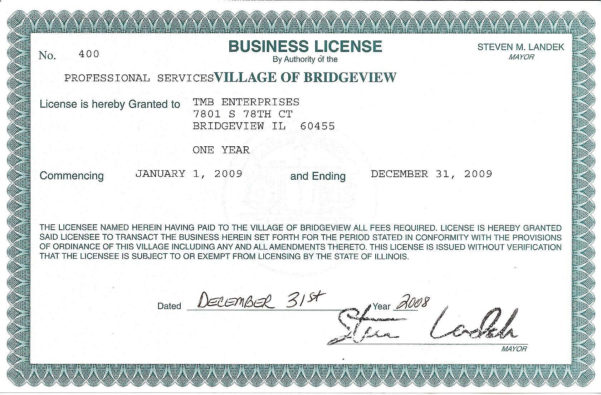 Business Application Form : Business License Samples Llc License Throughout Business License Samples