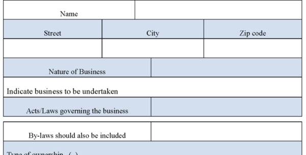 Business Application Form : Sample Forms With Business Applications Template