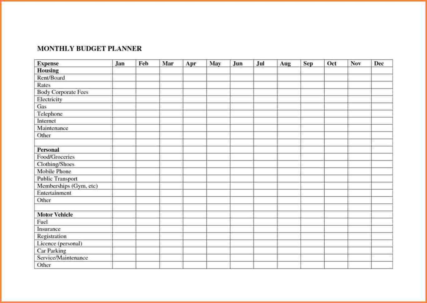 Business Budget Planning Worksheet Monthly Planner Spreadsheet You Inside Business Budget Planner Spreadsheet