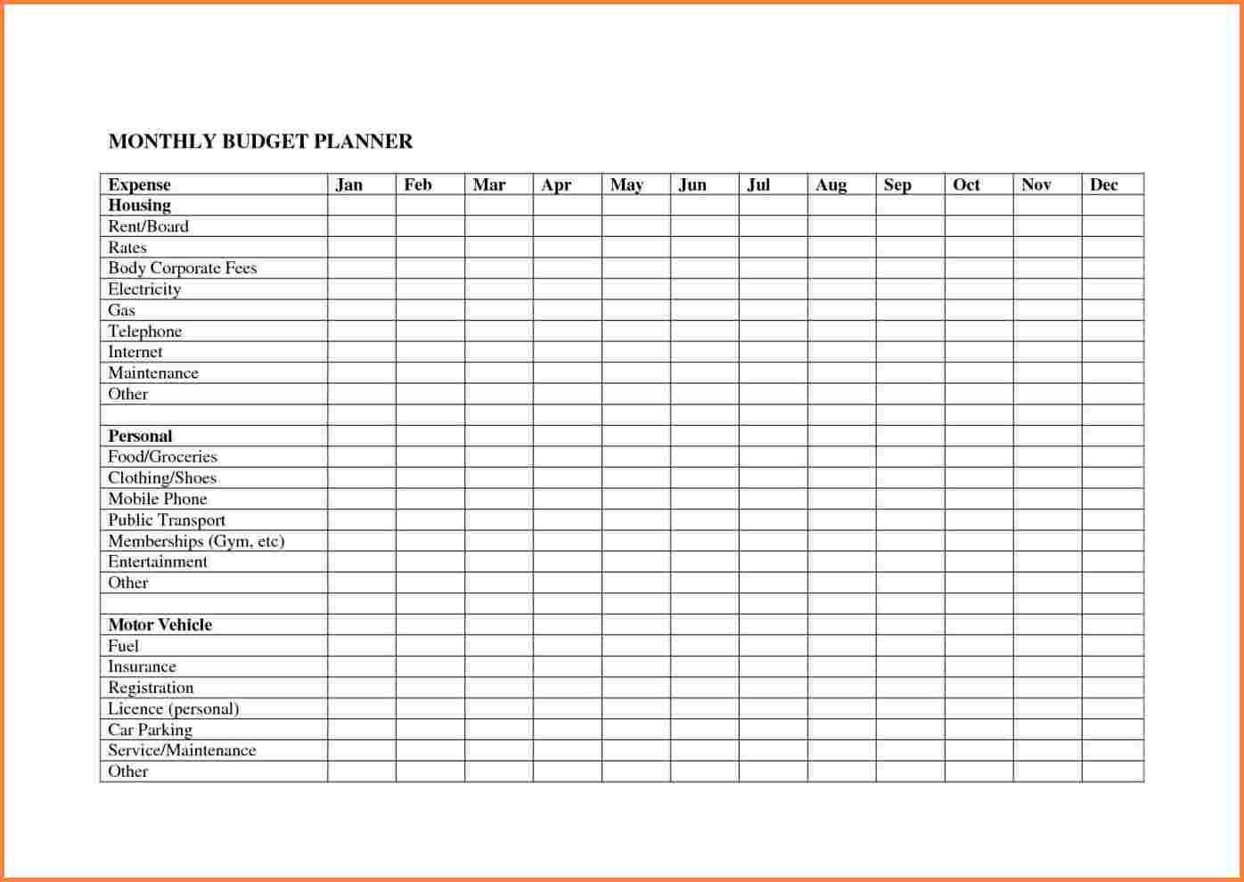 Business Budget Planning Worksheet Monthly Planner Spreadsheet You Inside Business Budget Planner Spreadsheet