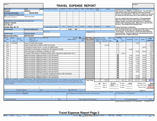 Business Expense Report Template Excel Best Download Expense Report To Business Trip Expense Template