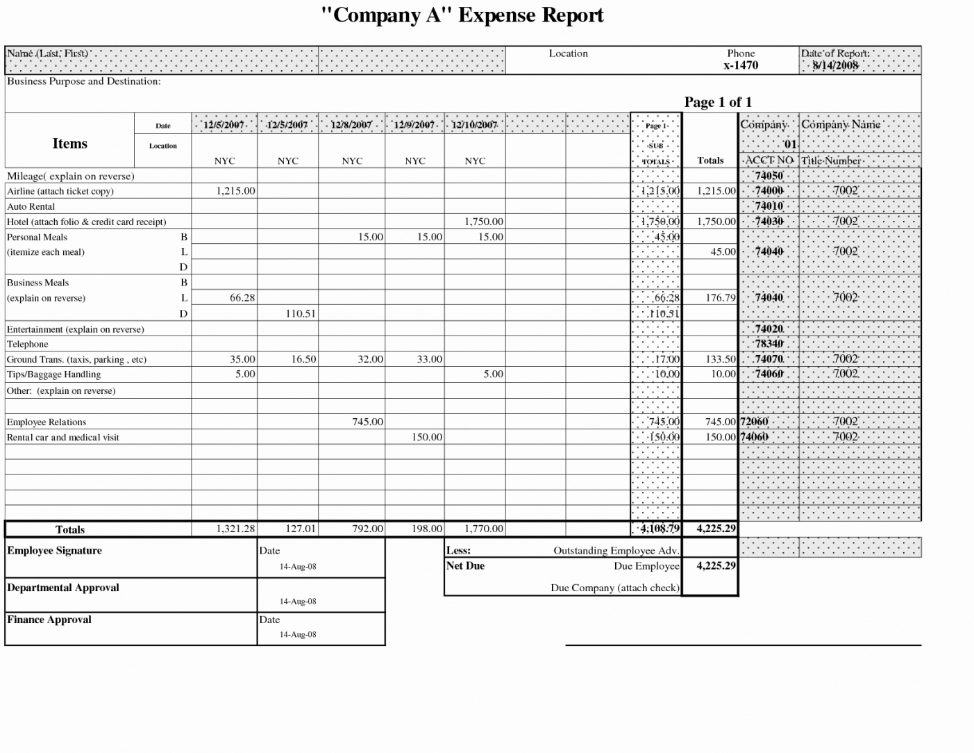 Business Expense Reports – Hola.klonec.co Company Expense Report Throughout Company Expense Report