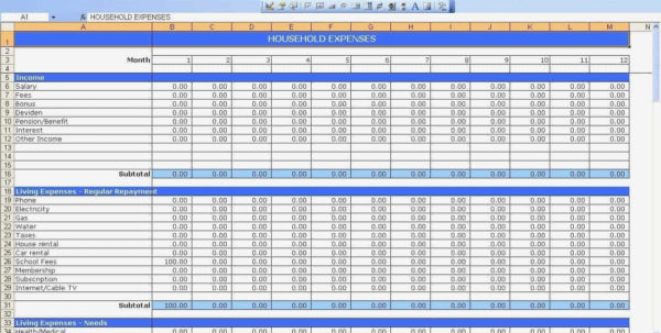 Business Expense Spreadsheet Template Small For Income And Expenses For Business Finance Spreadsheet Template