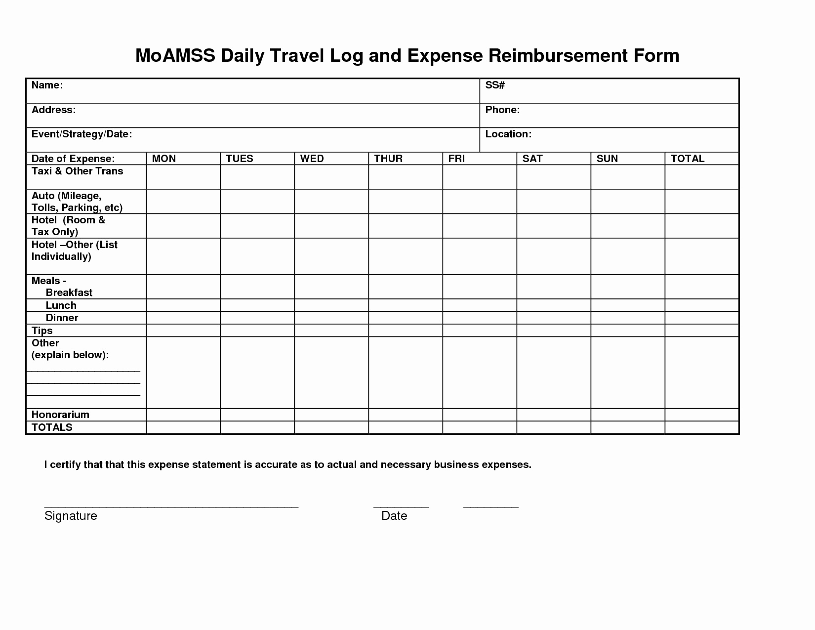 Business Expense Template For Taxes Inspirational Daily Business With Business Expenses List Template