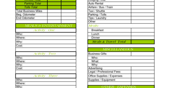 Business Expense Tracking Spreadsheet With Sample Daily Expense In Daily Expenses Tracker