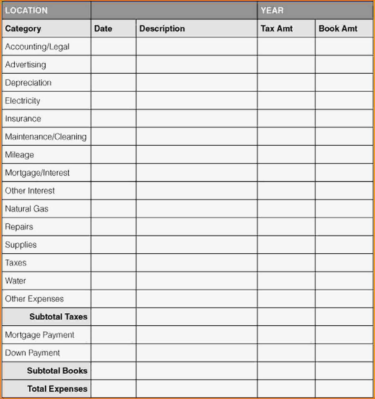 Business Expense Tracking Spreadsheet With Small Business Expenses For Small Business Expense Spreadsheet Template