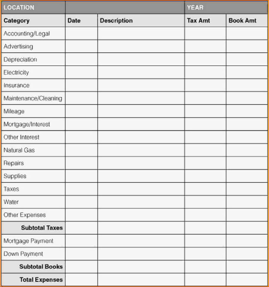 Business Expense Tracking Spreadsheet With Small Business Expenses In Business Expense Sheet Template