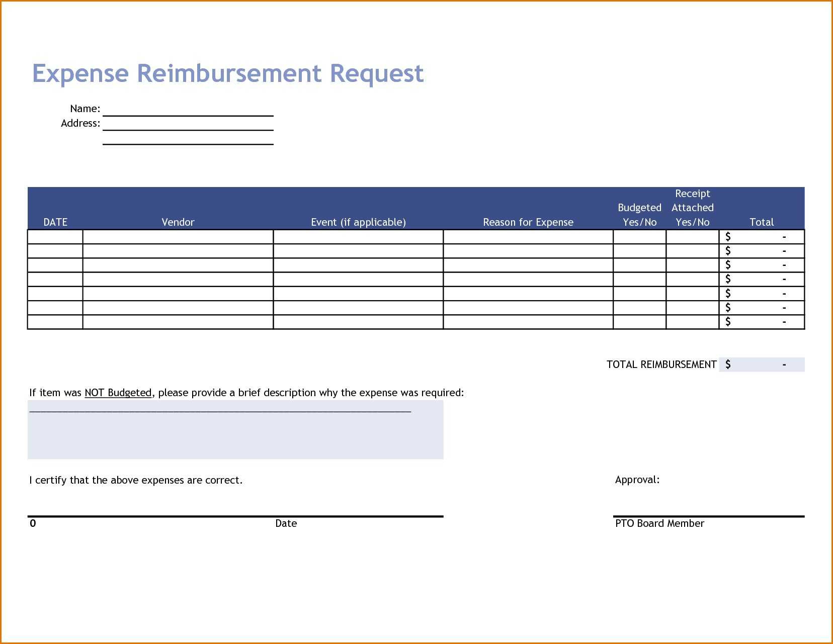 Business Expenses Form Template Reference Travel Expense In Simple Expense Form