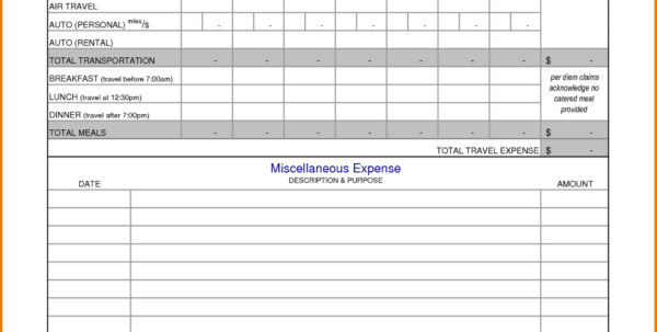 Business Expenses Spreadsheet Sample With Business Travel Expenses In Expense Report Spreadsheet Template