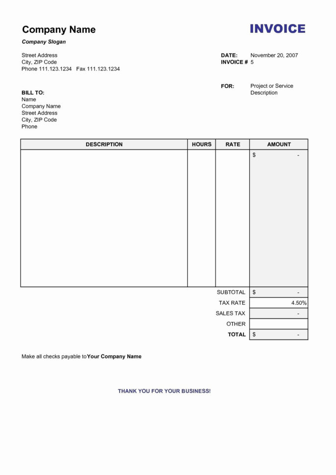 Business Invoice Templates Microsoft Word 10 Unique Template Throughout Invoice Template Microsoft Word