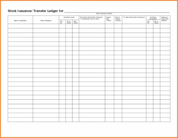 Business Ledger Template   Kairo.9Terrains.co With Small Business General Ledger Template