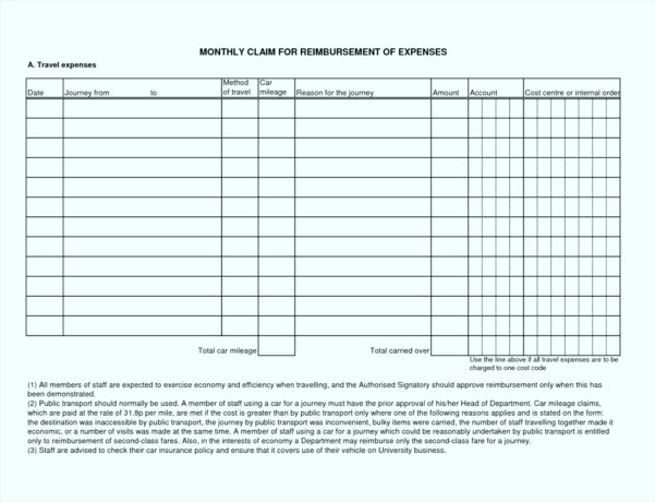 Business Mileage Claim Form Template Gallery   Business Cards Ideas Throughout Business Expenses Claim Form Template