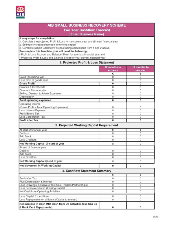 Business Plan Financial Forecast Template Simple Financial Within Business Plan Financials Template Excel Free