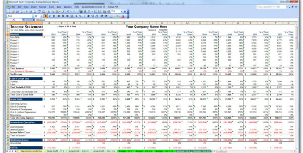 Business Plan Financial Template Excel Download   Resourcesaver Within Business Plan Financial Template