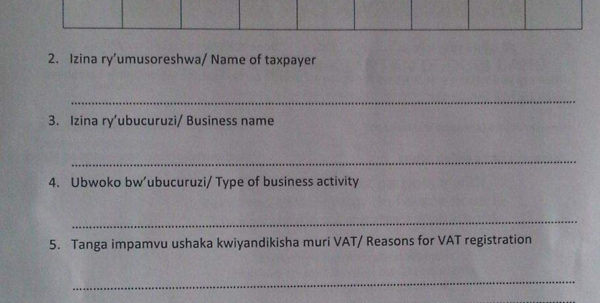 Business Procedures In Rwanda And Business Registration Application Form