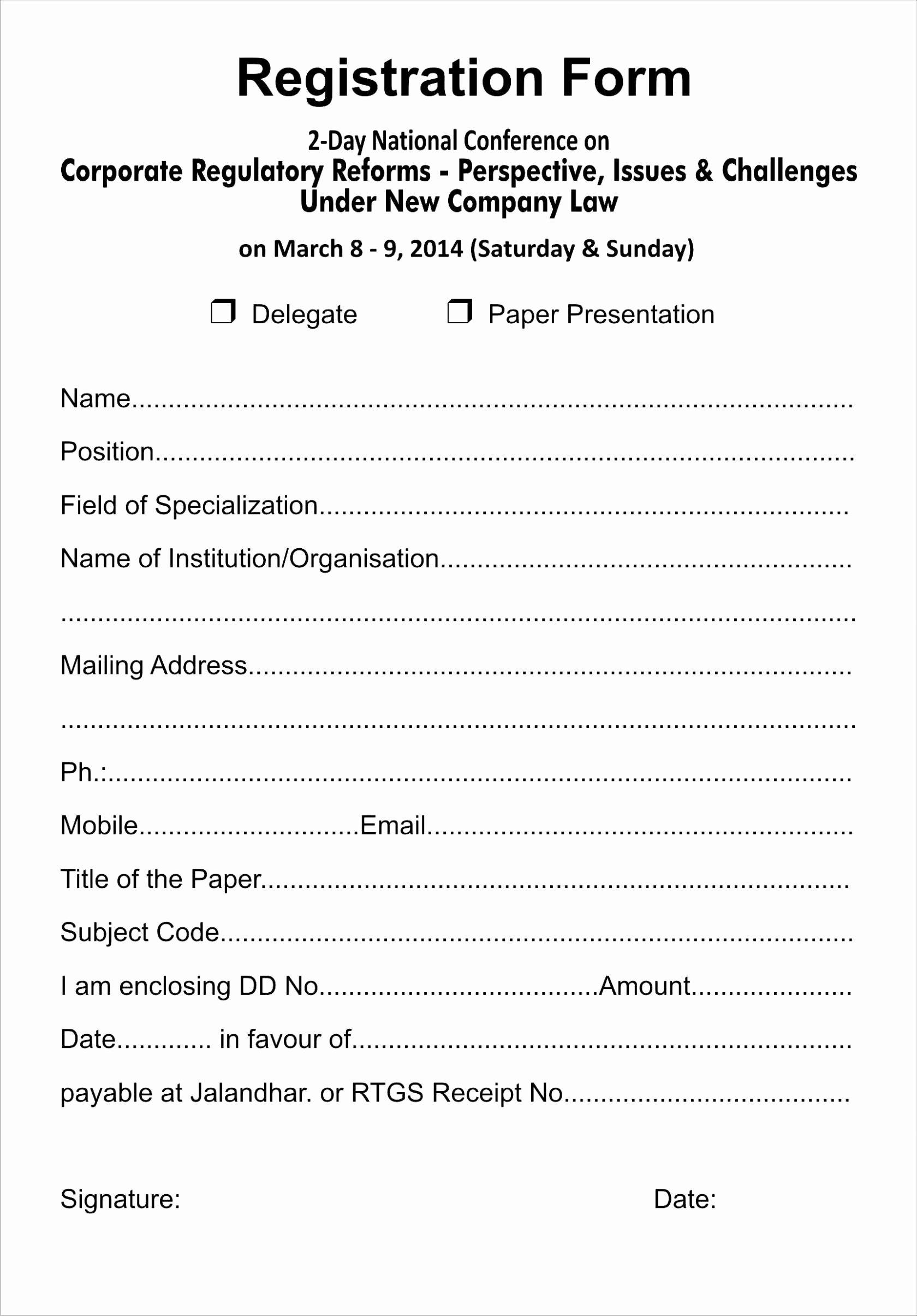 Business Registration Form Template Fresh Free Template For Within Business Registration Application Form