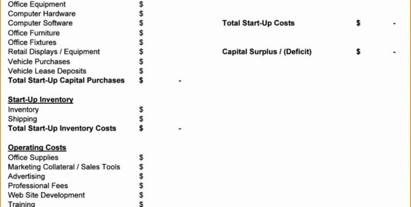 Business Start Up Expenses Template Monthly Awesome Expense Ycjsc In Business Operating Expense Template
