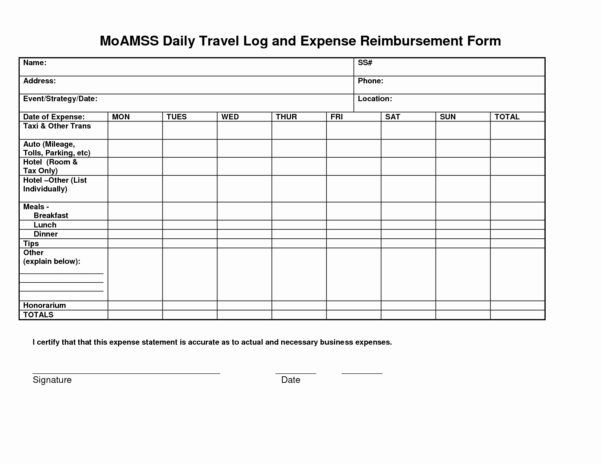 Business Travel Log Template Unique Mileage Spreadsheet For Taxes Throughout Business Trip Expenses Template