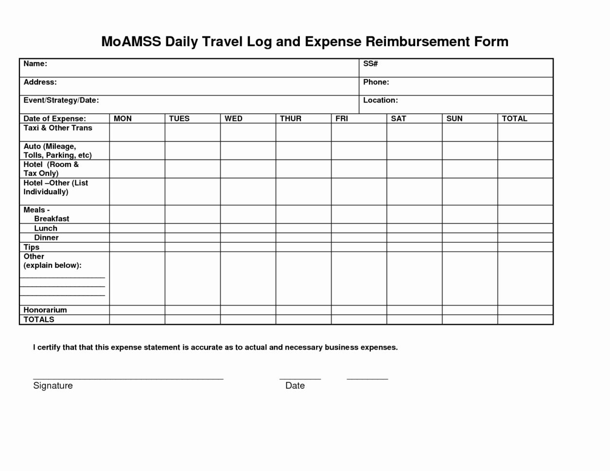 Business Travel Log Template Unique Mileage Spreadsheet For Taxes With Business Trip Expense Template