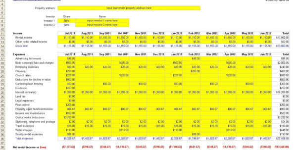 Buy To Let Allowable Expenses Excel Spreadsheet For Landlords In Within Landlord Spreadsheet Free