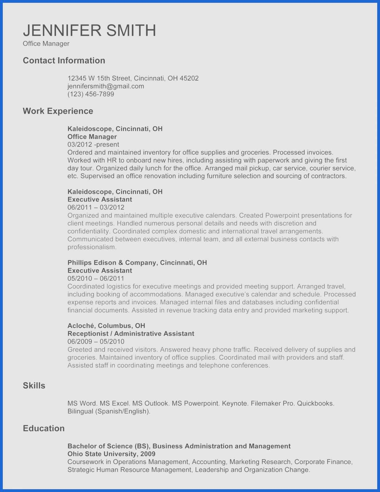 Car Loan Spreadsheet 20 Inspirational Resume Template Restaurant  Intended For Resume Spreadsheet