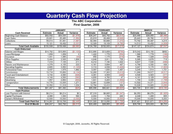 Cash Forecast Template Excel   Resourcesaver For Business Cash Flow Spreadsheet