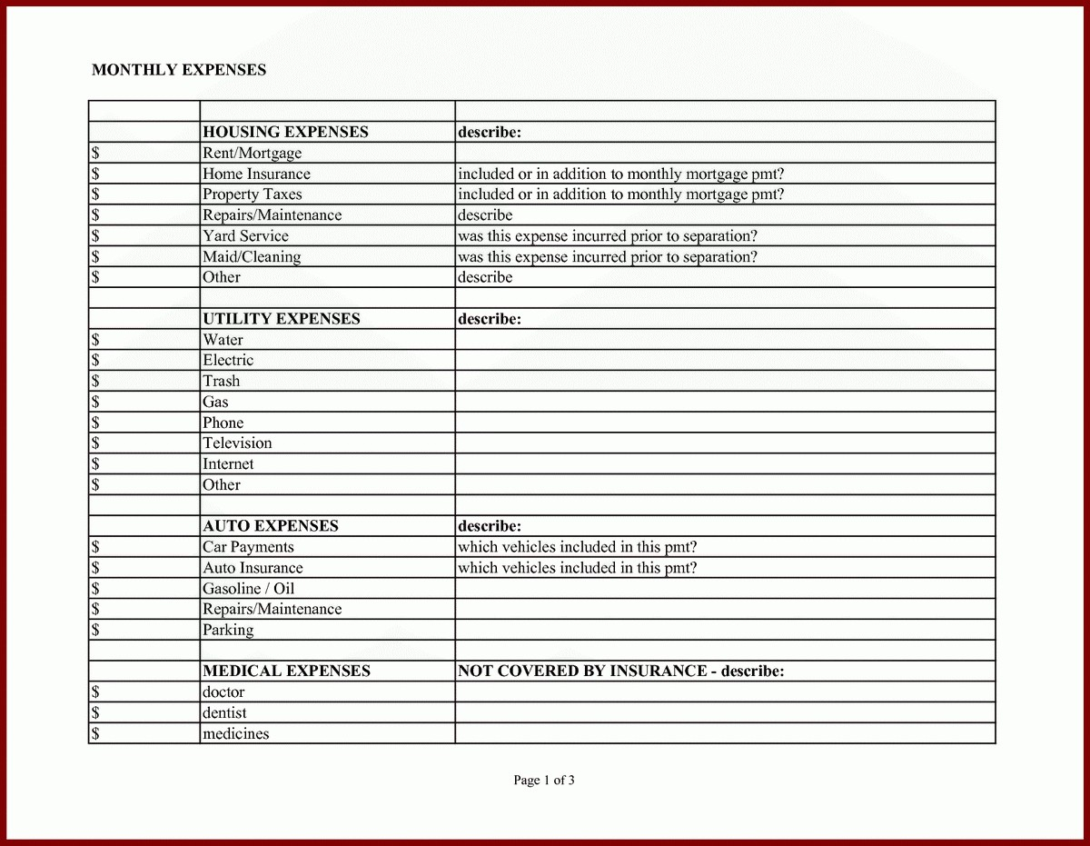 Cleaning Business Expenses Spreadsheet Excel For With Monthly Within Monthly Business Expense Report Template