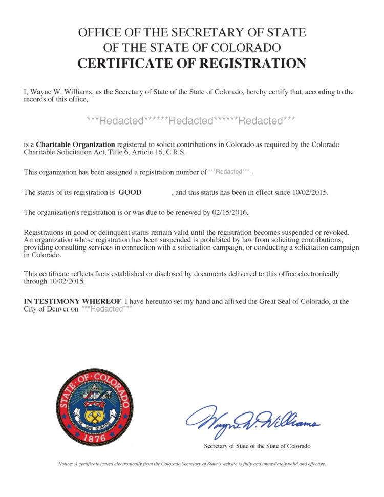Colorado Fundraising Registration | Harbor Compliance To Business Registration License